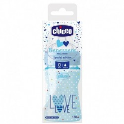 BIBERON CHICCO LOVE AZUL 150ml