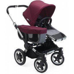 BUGABOO DONKEY MONO COMPLETE STROLLER GREY RED